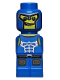 Minifig No: 85863pb018  Name: Microfigure Minotaurus Gladiator Blue