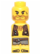 Minifig No: 85863pb020  Name: Microfigure Pirate Plank Pirate Yellow
