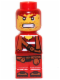 Minifig No: 85863pb021  Name: Microfigure Pirate Plank Pirate Red