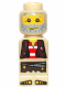 Minifig No: 85863pb022  Name: Microfigure Pirate Plank Pirate Tan