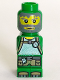 Minifig No: 85863pb025  Name: Microfigure Magma Monster Green