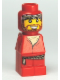 Minifig No: 85863pb030  Name: Microfigure Orient Bazaar Merchant Red