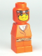 Minifig No: 85863pb033  Name: Microfigure Orient Bazaar Merchant Orange (With Belt)