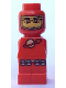 Minifig No: 85863pb043  Name: Microfigure Meteor Strike Astronaut Red