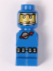 Minifig No: 85863pb044  Name: Microfigure Meteor Strike Astronaut Blue