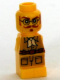 Minifig No: 85863pb046  Name: Microfigure Ramses Return Adventurer Yellow