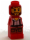 Minifig No: 85863pb047  Name: Microfigure Ramses Return Adventurer Red