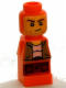 Minifig No: 85863pb048  Name: Microfigure Ramses Return Adventurer Orange