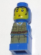 Minifig No: 85863pb049  Name: Microfigure Ramses Return Adventurer Blue