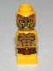 Minifig No: 85863pb086  Name: Microfigure Mini Taurus Gladiator Yellow