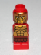 Minifig No: 85863pb087  Name: Microfigure Mini Taurus Gladiator Red
