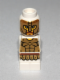 Minifig No: 85863pb088  Name: Microfigure Mini Taurus Gladiator White