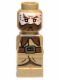 Minifig No: 85863pb095  Name: Microfigure The Hobbit Dwalin the Dwarf