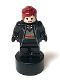 Minifig No: 90398pb028  Name: Gryffindor Student Statuette / Trophy #2, Dark Red Hair