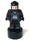 Minifig No: 90398pb033  Name: Ravenclaw Student Statuette / Trophy #1, Black Hair, Light Nougat Face