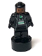Minifig No: 90398pb037  Name: Slytherin Student Statuette / Trophy #2, Reddish Brown Face