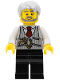 Minifig No: LLP002  Name: LEGOLAND Park Train Conductor, Pinstripe Vest, Red Tie and Pocket Watch Pattern