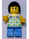 Minifig No: LLP024  Name: Child, Halter Top with Green Apples and Lime Spots, Dark Azure Short Legs