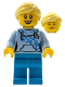 Minifig No: LLP031  Name: LEGOLAND Park Female with Bright Light Yellow Ponytail, Bright Light Blue Shirt, Dark Azure Legs