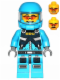 Minifig No: ac015  Name: Alien Defense Unit Soldier 1 - Dark Azure Hips