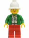 Minifig No: adv016  Name: Miss Gail Storm (Jungle) with Pith Helmet