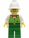Minifig No: adv035  Name: Dr. Kilroy - Green Vest, Green Legs