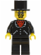 Minifig No: adv038  Name: Lord Sam Sinister - Suit with 3 Buttons Black - Black Legs, Top Hat