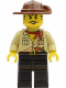 Minifig No: adv051  Name: Johnny Thunder in Desert Outfit with Cleft Chin (Orient Expedition)