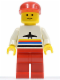 Minifig No: air004  Name: Airport - Classic, Red Legs, Red Cap