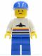 Minifig No: air005  Name: Airport - Classic, Blue Legs, Blue Cap
