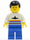 Minifig No: air006  Name: Airport - Classic, Blue Legs, Black Male Hair