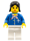 Minifig No: air010  Name: Airport - Blue with Scarf, Black Female Hair