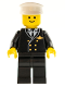 Minifig No: air013  Name: Airport - Pilot, Black Legs, White Hat