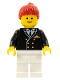 Minifig No: air015  Name: Airport - Pilot, White Legs, Red Ponytail Hair