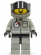 Minifig No: airdg001  Name: Fire - Air Gauge and Pocket, Light Gray Legs and Black Hips, Underwater Helmet with Hose, White Airtanks