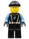 Minifig No: aqu019  Name: Aquaraider Diver 5 - Black Knit Cap