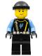 Minifig No: aqu019  Name: Aquaraider Diver 5 - Black Knit Cap