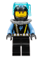 Minifig No: aqu021  Name: Aquaraider Diver 7