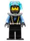 Minifig No: aqu023  Name: Aquaraider Diver 8 with Black Flippers