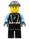 Minifig No: aqu024  Name: Aquaraider Diver 5 - Dark Bluish Gray Knit Cap