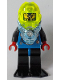 Minifig No: aqu031  Name: Hydronaut 2 with Black Flippers