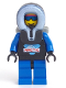 Minifig No: arc002  Name: Arctic - Black, Black Hood, Backpack