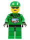 Minifig No: arc007  Name: Arctic - Green, Green Cap