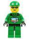 Minifig No: arc007  Name: Arctic - Green, Green Cap
