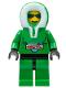 Minifig No: arc008  Name: Arctic - Green, Green Hood