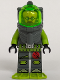 Minifig No: atl009  Name: Atlantis Diver 6 - Jeff Fisher
