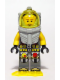 Minifig No: atl018  Name: Atlantis Diver 4 - Lance Spears - With Yellow Flippers and Trans-Yellow Visor