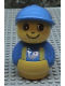 Minifig No: baby009  Name: Primo Figure Boy with Yellow Base, Blue Top with Yellow Suspenders with Fish Pattern, Blue Hat