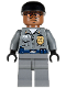 Minifig No: bat019  Name: Arkham Asylum Guard, Medium Brown Head, Black Cap