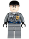 Minifig No: bat020  Name: Arkham Asylum Guard, Light Flesh Head, Black Cap